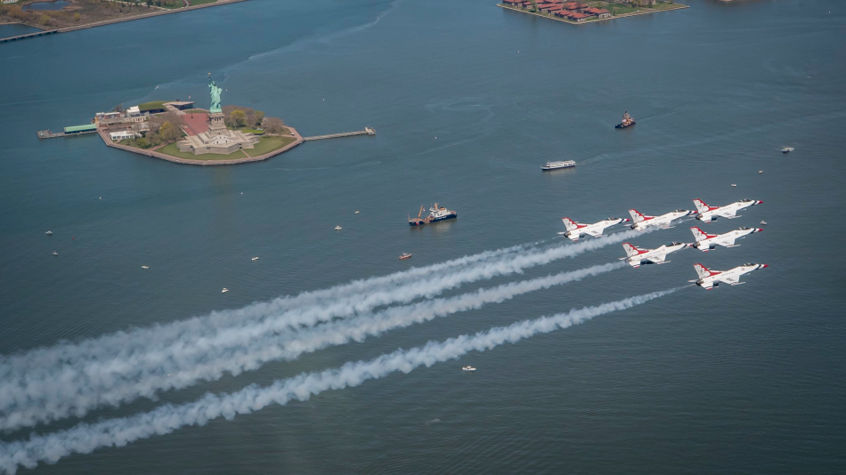 The Blue Angels & Thunderbirds Did an NYC Flyover to Salute Frontline Workers